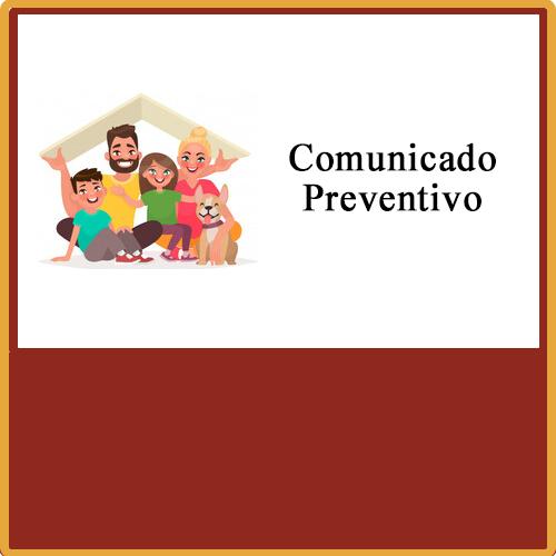 Comunicado preventivo