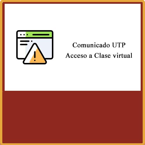 Comunicado UTP