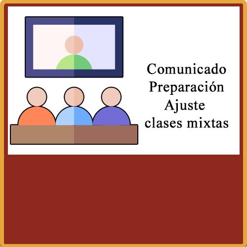 Comunicado preparación para las clases mixtas